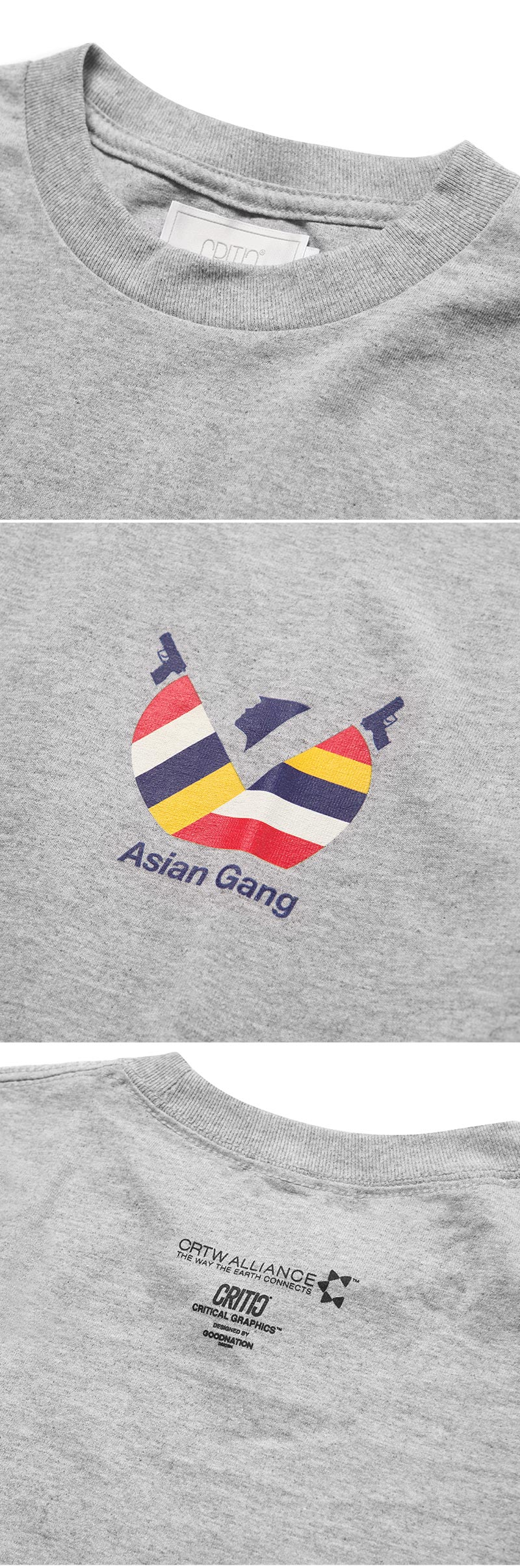 크리틱(CRITIC) ASIAN GANG T-SHIRT(GRAY)_CTOGURS41UC4