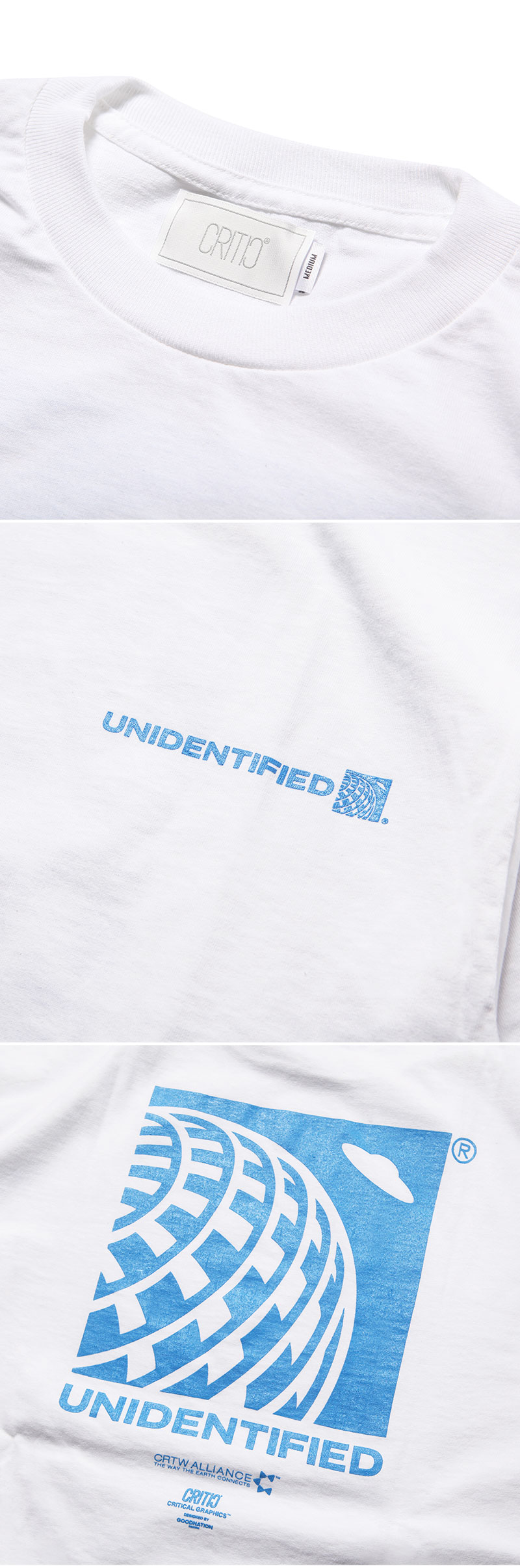 크리틱(CRITIC) UNIDENTIFIED T-SHIRT(WHITE)_CTOGURS42UC2