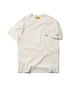 ARCH LOGO POCKET TEE (CREAM)_CMOEURS33UY5