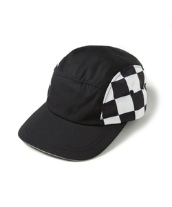 CHECK PLAID CAMP CAP (BLACK)_CTOEUHW02UC6