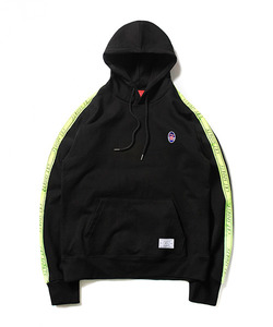 CRT SPORTS TAPED SWEAT HOODIE(BLACK)_CTOEAHD02UC6