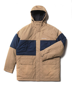 COLOR BLOCK HOODED JACKET(CREAM)_CTOEIJK01UE3