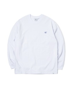 CRT LOGO LONG SLEEVE T-SHIRT(WHITE)_CRONPRL01UC2