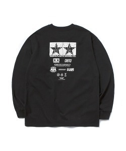 TAMIYA X CRITIC SPONSOR LOGO LONG SLEEVE T-SHIRT(BLACK)_CSONURL01UC6