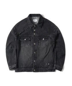 WASHED DENIM TRUCKER JACKET(BLACK)_CTONPJK05UC6