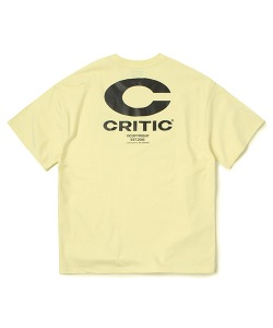 BIG C LOGO T-SHIRT(PASTEL YELLOW)_CTONURS15UY3