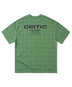 BACKSIDE LOGO GRID T-SHIRT(OLIVE GREEN)_CTONURS09UG4