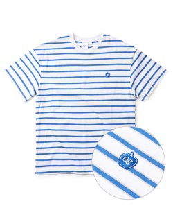 CRT STRIPE APPLE T-SHIRT(WHITE)_CRONURS04UC2