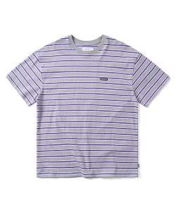 STRIPE T-SHIRT(CHARCOAL)_CTONURS17UC1