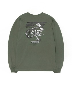 BACK PRINT LONG SLEEVE(KHAKI)_CSONARL01UK0