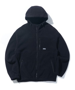 HOODED FLEECE JACKET(BLACK)_CTONIJK02UC6