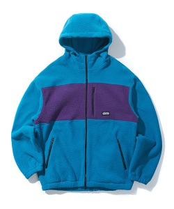 HOODED FLEECE JACKET(MINT)_CTONIJK02UG3