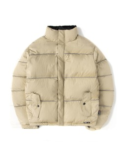 Reflective Piping Padding Puffer(BEIGE)_CSONIDJ02UE0