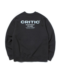 BACKSIDE LOGO SWEATSHIRT(BLACK)_CTONPCR02UC6