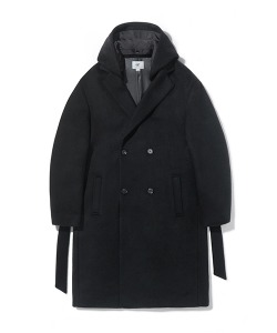 CRT WOOL HOODIE DOUBLE COAT(BLACK)_CRONICT01UC6