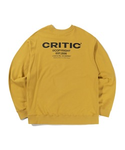 BACKSIDE LOGO SWEATSHIRT(MUSTARD)_CTTZPCR08UY2