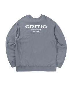BACKSIDE LOGO SWEATSHIRT(BLUE GRAY)_CTTZPCR08UB8