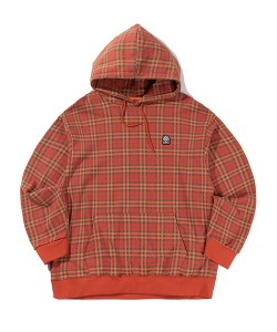 CHECK PATTERN HOODIE(ORANGE)_CTTZPHD06UO0