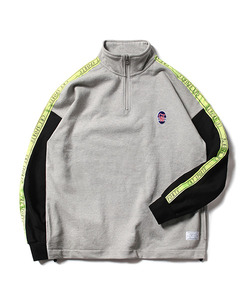 CRT SPORTS TAPED HALF ZIP UP SWEAT SHIRT(GRAY)_CTOEACR06UC4