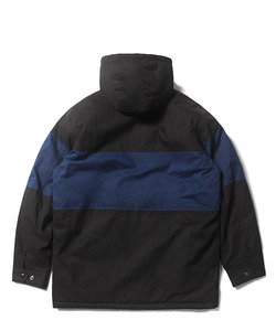 COLOR BLOCK HOODED JACKET(BLACK)_CTOEIJK01UC6