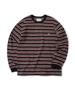 STRIPE LONG SLEEVE T-SHIRT(ORANGE)_CTOGARL12UO0