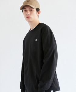 CRT LOGO LONG SLEEVE T-SHIRT(BLACK)_CRONPRL01UC6