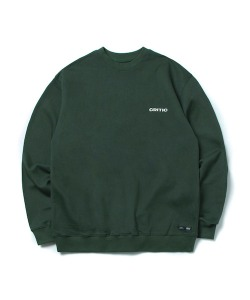 BACKSIDE LOGO SWEATSHIRT(DEEP GREEN)_CTONPCR02UG1