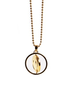 QUANTEZ x CRITIC TWOFACE EMOJI NECKLACE(GOLD)_CTONUAC02UGD