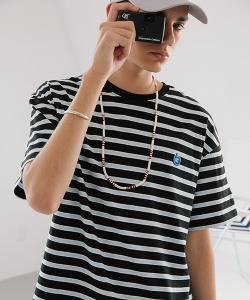 CRT STRIPE APPLE T-SHIRT(BLACK)_CRONURS04UC6