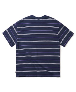 MULTI STRIPE T-SHIRT(NAVY)_CTONURS16UN0