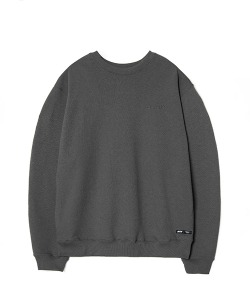 WASHED SWEAT SHIRT(CHARCOAL)_CSONACR01UC1