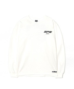 BACK PRINT LONG SLEEVE(WHITE)_CSONARL01UC2