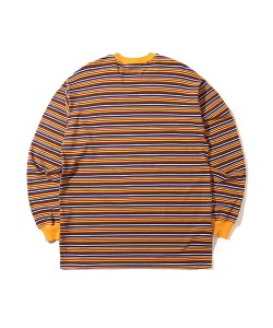 STRIPE LONG SLEEVE T-SHIRT(YELLOW)_CTONARL09UY0