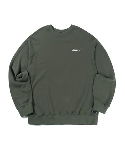 BACKSIDE LOGO SWEATSHIRT(KHAKI)_CTTZPCR08UK0